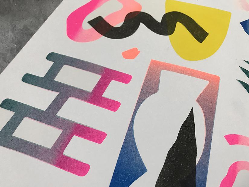bigote faded paradise risoprint bigote sucio granada obra grafica