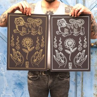 fvuego serigrafia ultimomono print, screenprint, tattoo