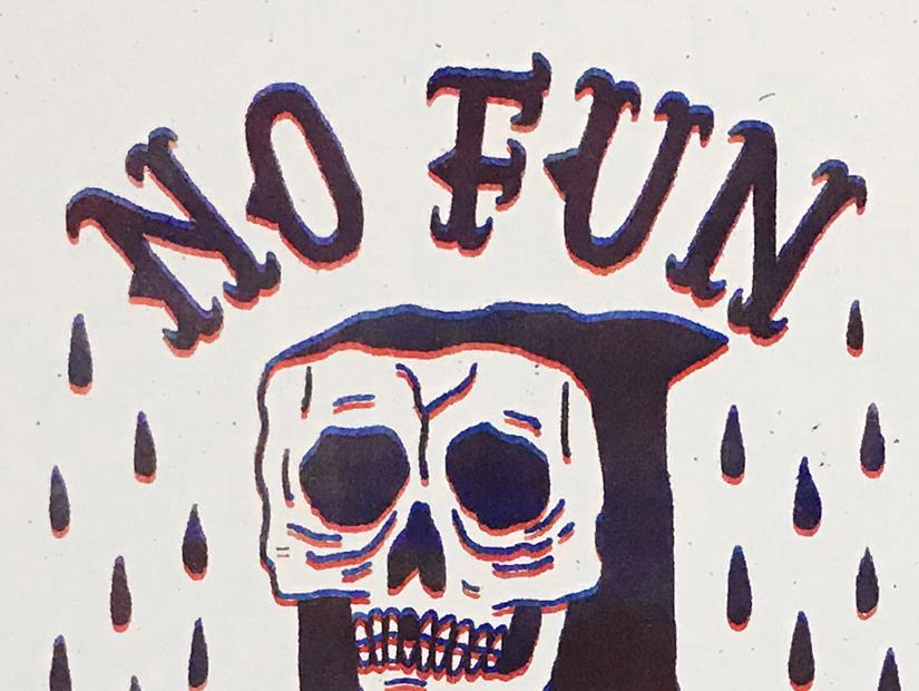 no fun jess garcia riso print poster stooges