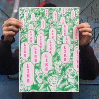 likes, paco tuercas, valencia, andalucia, sevilla, china, facebook, riso, rosa, pink, green, verde