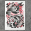 upsidedown edzumba riso tatto sevilla print poster
