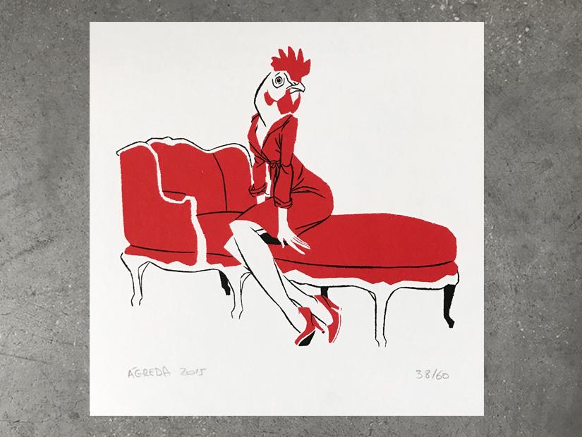 agreda gallina en el divan
