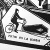 rafa el doc, barcelona, punk, cargo bike, bicileta, poster, serigrafía