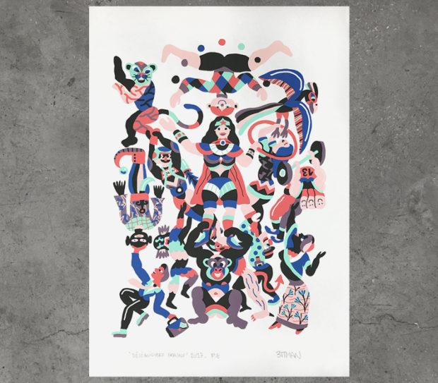 3ttman serigrafia screenprint, print poster delimbo