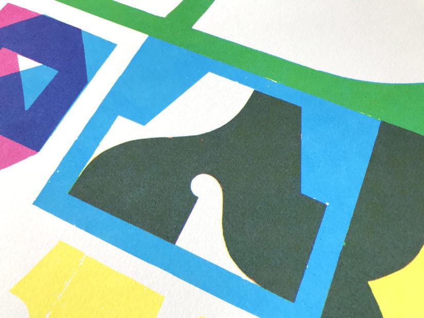 erosie blindspot screenprint print serigrafia sevilla delimbo