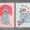 lucia arnau, cuatro estaciones, lucero tattoo, estampas, riso, postales