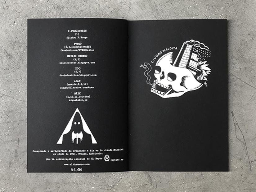 oscuro profundo, fanzine, serigrafia, vvaa