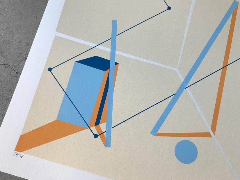 srger, serigrafía, screenprint, print, estampa, triangulo rectangulo